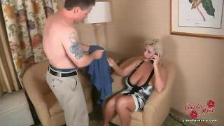 Claudia Marie auditions a male strippe