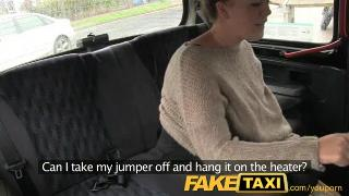 FakeTaxi Young girl with bouncy tits seduced by local cabby