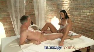 Massage Rooms Sexy young girl gets big tits oiled (watesn)