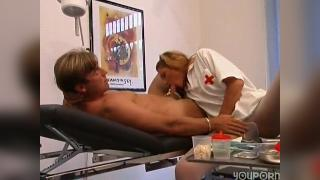 Naughty German nurse with a patient