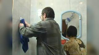 Mima Taking a hot shower together with dad