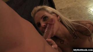 Phoenix Marie is a mature blonde with big tits and a shaved pussy.