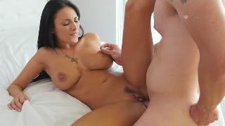 Fucked realy hard in her milfy pussy Anissa Kate takes it al