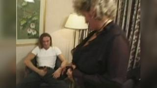 Hot British mature fucked by 2 young guys