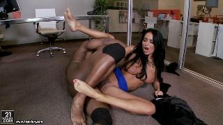 Foot play with adorable babe Anissa Kate